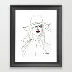 Blue Eyeshadow Framed Art Print