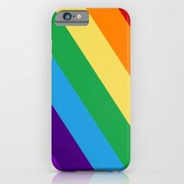 Rainbow flag iPhone Case
