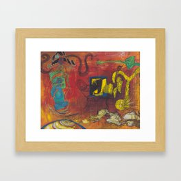 fractal insight from an  ancient mind Framed Art Print