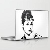 audrey hepburn Laptop & iPad Skins featuring audrey hepburn by gazonula