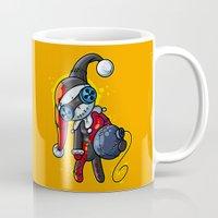 harley Mugs featuring Harley Doll by Artistic Dyslexia