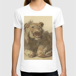 Cornelis Saftleven - A Lion Snarling T-shirt