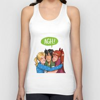 powerpuff girls Tank Tops featuring POWERPUFF HUGS by avataraandy's society6