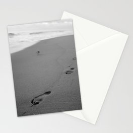 Footprints In The Sand Bathroom Decor Stationery Cards