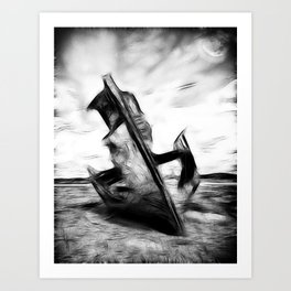 Ghostly Wreck Art Print