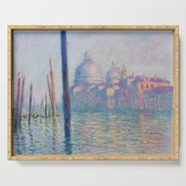 Le Grand Canal by Claude Monet Serving Tray