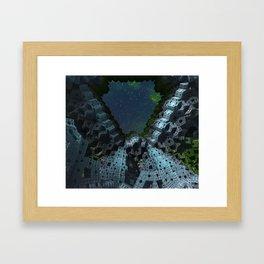 Fractalized Void Framed Art Print