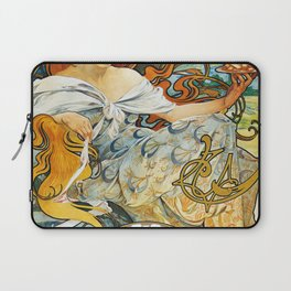 12,000pixel-500dpi - Alfons Mucha - Biscuit Lefeure-utile - Digital Remastered Edition Laptop Sleeve