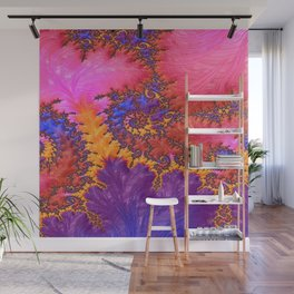 Fractual in Hot Pinks and Purples Wall Mural