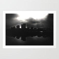 Sleeping in the dark (black v.) Art Print