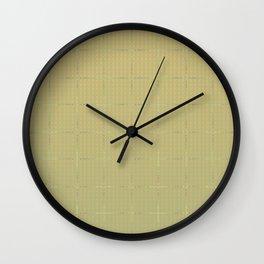Glama Checks Again (Olive) Wall Clock