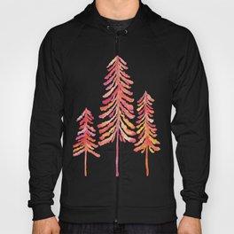 Pine Trees – Pink & Peach Ombré Hoody