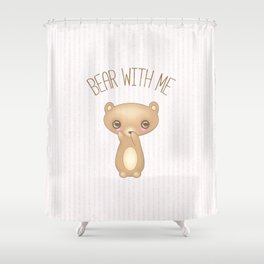 Bear With Me - Creepy Cute Teddy Shower Curtain
