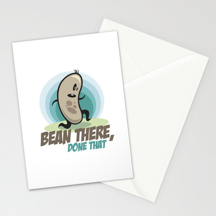 Bean there, done that Stationery Cards