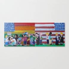United We Stand Divided We Fall 12: Together Canvas Print