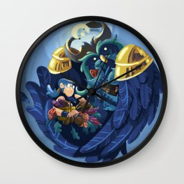 A Boomkin And His Priest Wall Clock