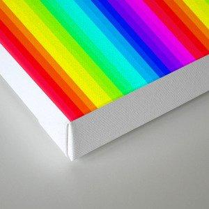 Rainbow Line #society6 Canvas Print