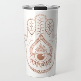 Hamsa Hand - Rosé Gold Travel Mug