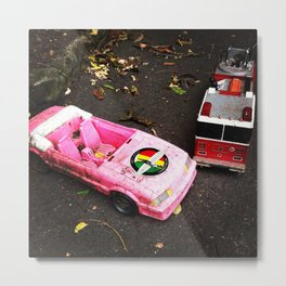 Barbie Causes an Accident Metal Print