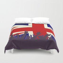 England State Flag with Audience Duvet Cover