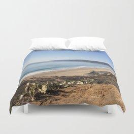 Malibu, California - Coastline Duvet Cover
