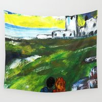 lighthouse Wall Tapestries featuring lighthouse by Nastya Bo