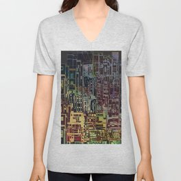 Where Are YOU -4 / Urban Density Unisex V-Neck