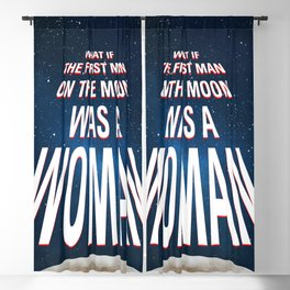 What if - 50 Years Moonlanding Blackout Curtain
