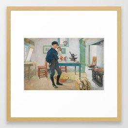 CARL LARSSON, conversation Framed Art Print