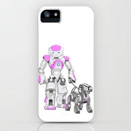 The Dog Walker. (Pink) iPhone Case