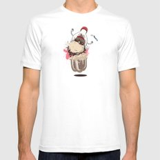 Chemical Reaction Mens Fitted Tee White MEDIUM