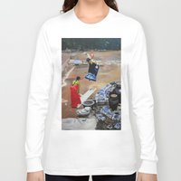 korean Long Sleeve T-shirts featuring Korean Seesaw by Robert S. Lee Art