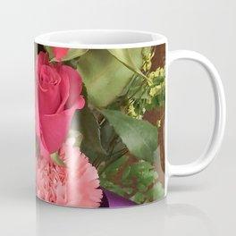 Flowers on stained wood. Coffee Mug