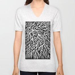 White roots Unisex V-Neck