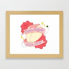Kawaii Pink Framed Art Print
