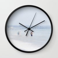 swimming Wall Clocks featuring Swimming by Pure Nature Photos