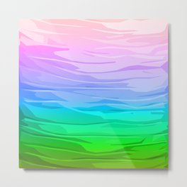 Rainbow Layers Metal Print