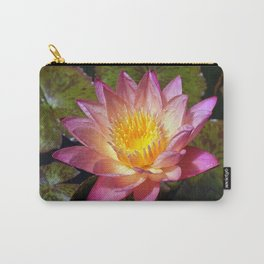 Lovely Pink Water Lily Carry-All Pouch