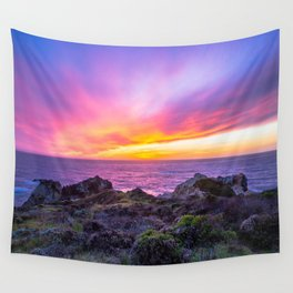 California Dreaming - Brilliant Sunset in Big Sur Wall Tapestry