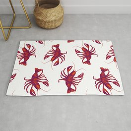 Le Lobster Rouge Rug