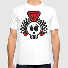 ***I´LL CARRY  on DANCING FLAMENCO even in  the GRAVE*** White Mens Fitted Tee SMALL