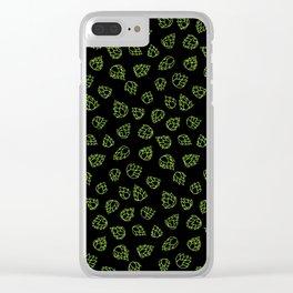 Hopcone Pattern Clear iPhone Case
