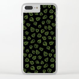 Hopcone Pattern Clear iPhone Case