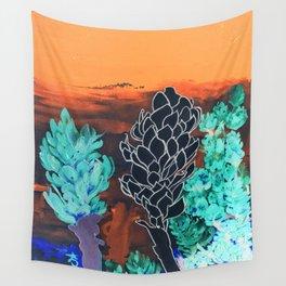 DESERT NIGHT Alpinia Purpurata Wall Tapestry