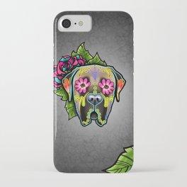 Mastiff in Fawn - Day of the Dead Sugar Skull Dog iPhone Case
