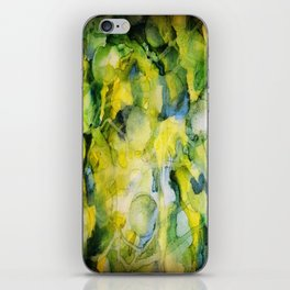 Spaced Out Watercolor Painting iPhone Skin