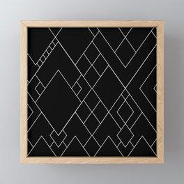 White Lines on Black II Framed Mini Art Print