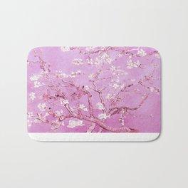 Vincent Van Gogh Almond BlossomS. Pink Lavender Bath Mat