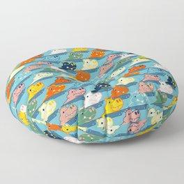Happy Hippo Family Floor Pillow
