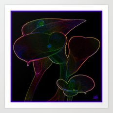 Glowing Lilies Art Print